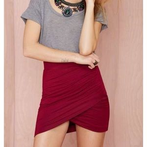 Nasty Gal Lola Knot Skirt - Red